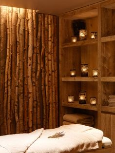 Bamboo massage room!  Come to Fulcher's Therapeutic Massage in Imlay City, MI and Lapeer, MI for all of your massage needs!  Call (810) 724-0996 or (810) 664-8852 respectively for more information or visit our website lapeermassage.com!