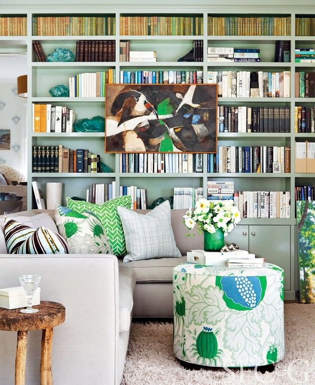 These Mint Green Bookcases Are Just The Cutest