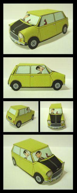 Paper model of Mr. Bean's Mini