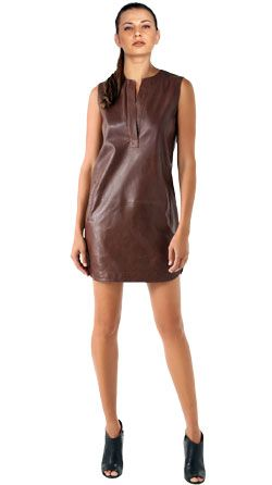 1000  images about Cool Leather dresses on Pinterest  Crew neck ...