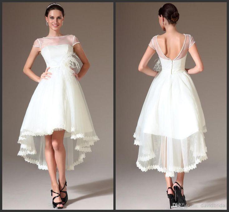 81 best wd ideas images on pinterest pants white for Hi lo wedding dress