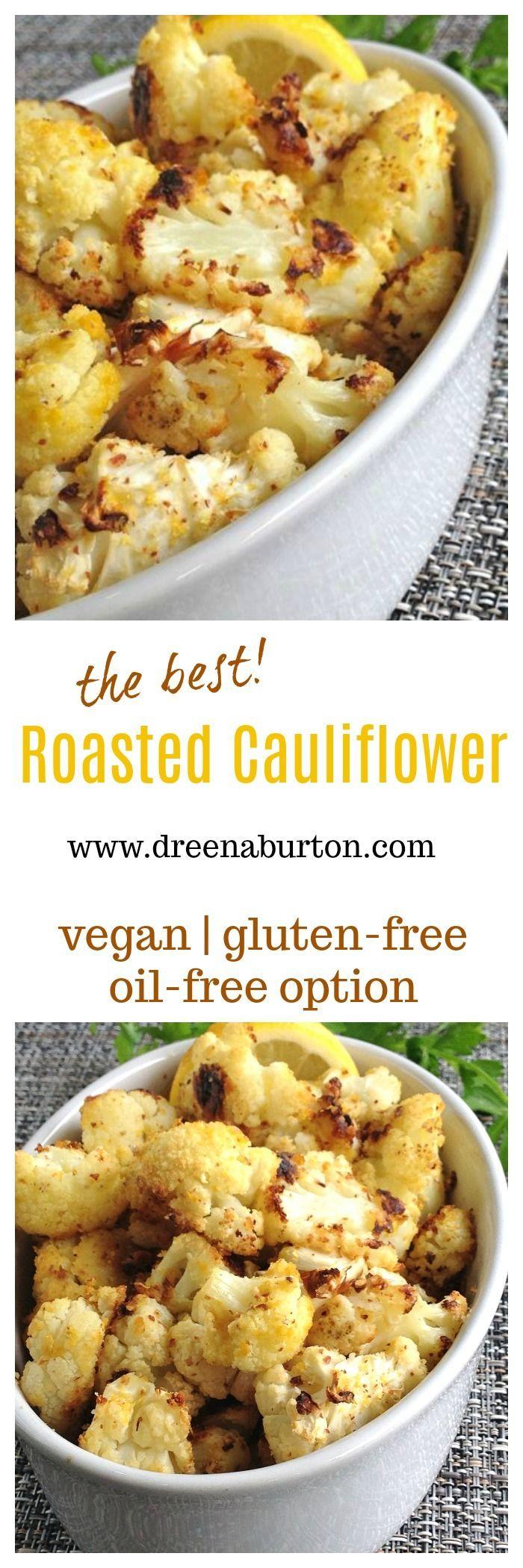 This ALMOND ROASTED CAULIFLOWER will turn cauliflower haters into cauli lovers! #vegan #glutenfree