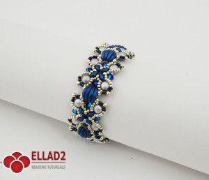 Beading Tutorial Nevis Bracelet - Beading Tutotials and Patterns - Ellad2