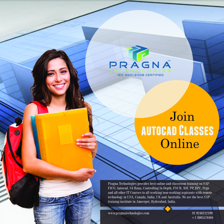 Get Autocad training from Pragna Technologies and make career brighter.