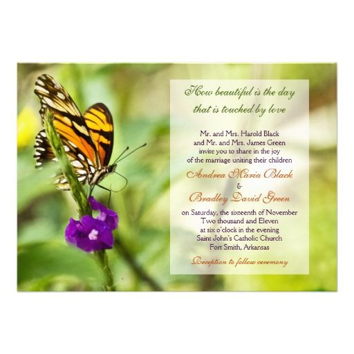 40 best Wedding Invitations images on Pinterest Butterfly wedding - wedding invitation samples australia