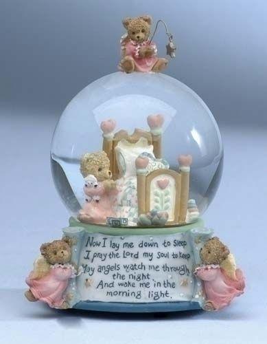 Musical Angel Snow Globe   Web Snow Globes - Nativity Snow Globes: Musical Bear Snow Globe 2