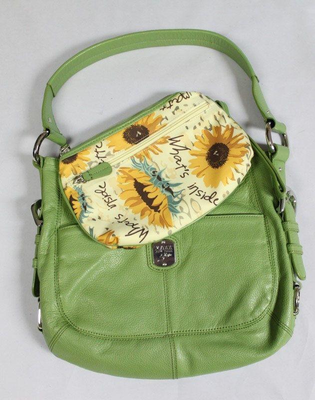 Maxx Shoulder Bag & Clutch.  Green by EmmaLousResalePlace on Etsy