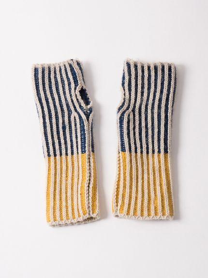 Bicolour blue mittens - Bobo Choses