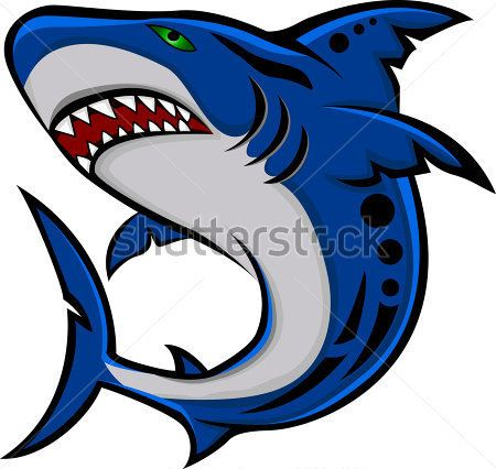 Angry shark clipart - photo#7