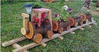 floreiras de tronco - Pesquisa Google