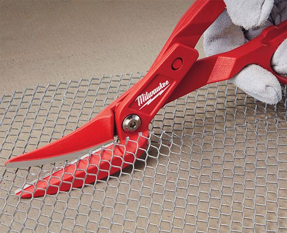 Milwaukee Offset Tinner Snips-finally someone thought about the fact the old style ones drug your hand through the tin, wire, or flashing,