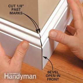 How To Cut Trim Mouldings Perfectly - lots of carpentry tips & tricks on this post that will ensure that your trim cuts come together seamlessly.