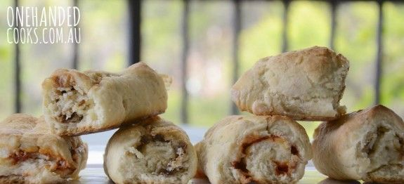 Cheesy Vegemite Scrolls - One Handed Cooks