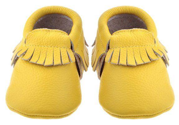 Sayoyo Premium Baby Quasten Weiches Leder Lauflernschuhe Mädchen Krabbelschuhe…