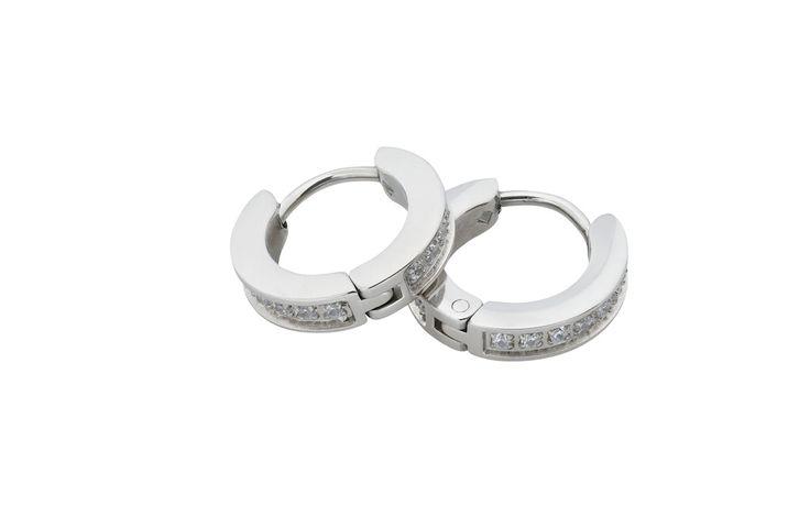 Ingnell Jewelllery - Elvira earring single steel. Stainless steel. www.ingnelljewellery.com