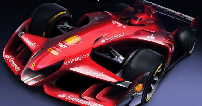 Ferrari presenta su concepto particular sobre los coches de F1 del futuro - F1 al día