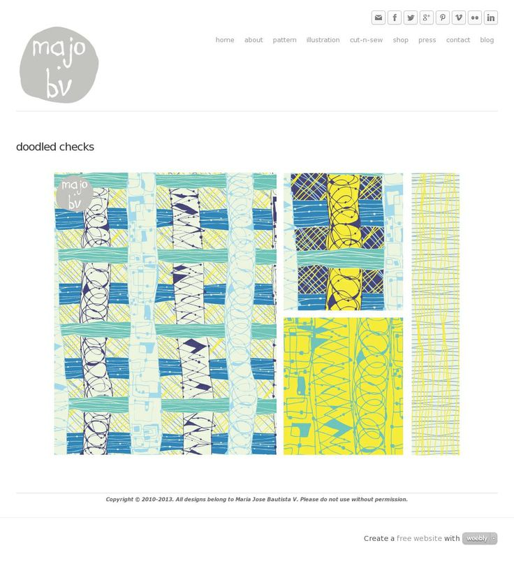 Doodled Checks by ©MaJoBV http://www.majobv.com/doodled-checks.html :: pattern :: quirky :: plaid
