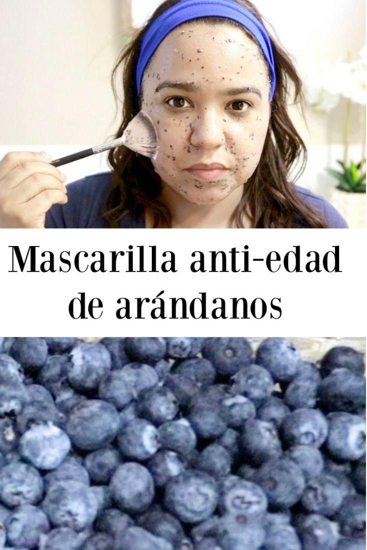 Mascarilla facial de arándanos o blueberries anti-oxidante, anti enjecimiento e hidratatne para una piel bonita.
