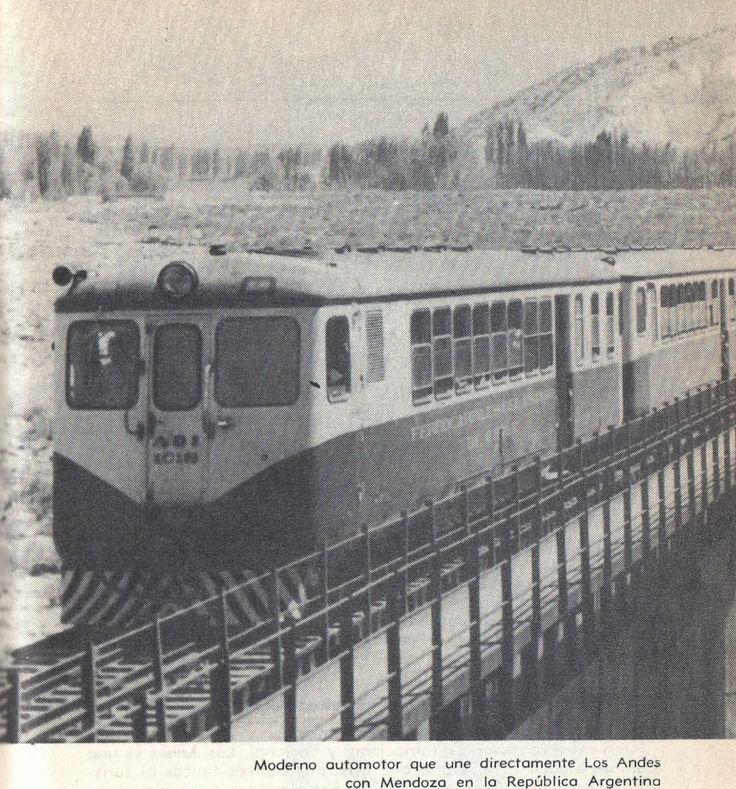 Ferrocarril Trasandino. Automotor Diesel de Primera Clase ADI 1018, Los Andes