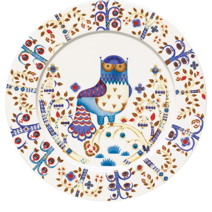 Iittala Taika owl plate, $40; Photo by Robert Mitra #registry