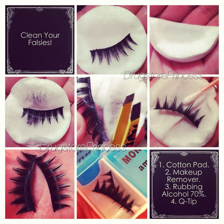 How to clean false lashes 101