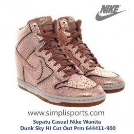 Sepatu Casual Nike Wanita Dunk Sky HI Cut Out Prm 644411-900 ORI