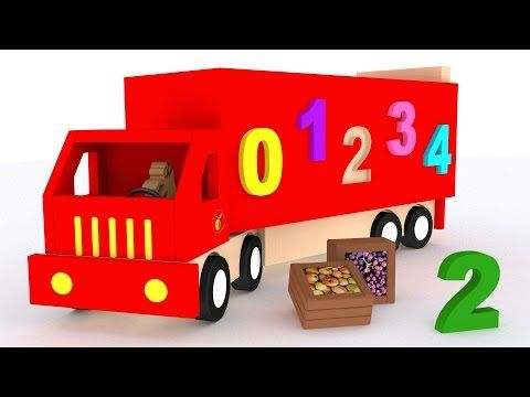 Trucks for children kids. Learn numbers. Learn to count 1 to 10. Cartoon for babies - YouTube