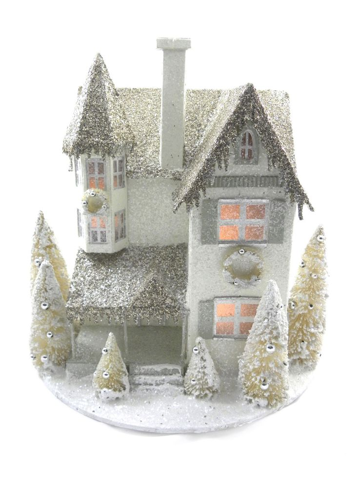 Glitter House Ornament by KD Vintage at Gilt