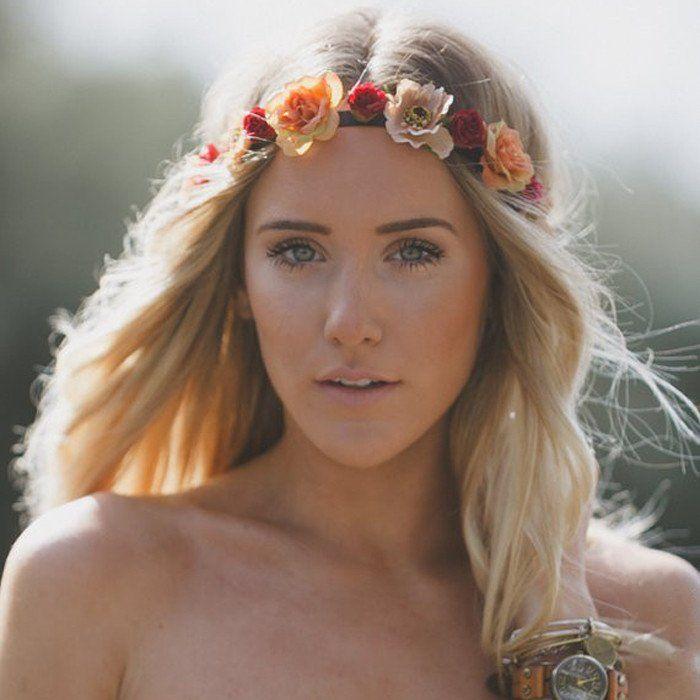 "Wholesale Lot - ""Bianca"" - 14/28/56 PC Flower Headbands - Floral Headbands - Boho Chic Accessories - Wholesale Hair Accessories - Bohemian Style - #100353 #wholesale #headbands #flower #floral #boho"