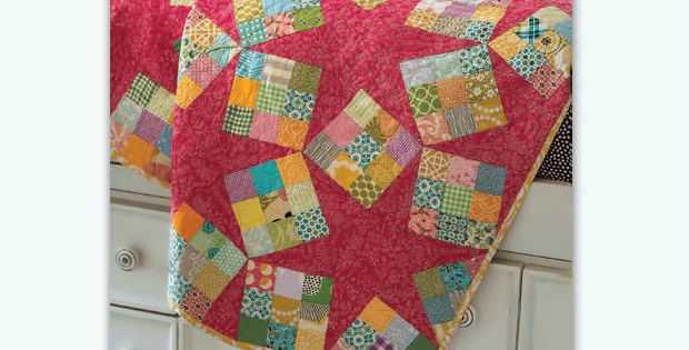 Mix Scrappy with Big Beautiful Stars for a Stunning Quilt! Stars and…