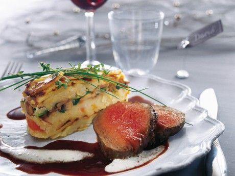 Potatis- och grönsakskaka med smak av tryffel