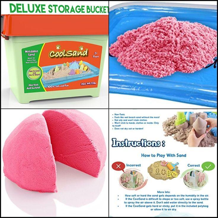 5 lb. Refill Bucket w/ Inflatable Sandbox Kids Kinetic Play Sand Christmas Gift #CoolSand