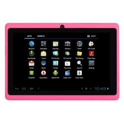 WolVol NEW (Android 4.0 - 1GB RAM) Ultra-Thin PINK 7inch Tablet PC Touch Screen, WiFi and Camera with Google Play, Flash Player, 3D/HD Video (Includes: Pink Velvet Pouch Case, Touch Pen, Charger, Screen Protector)  Product sku: 130 Availability: Out Of Stock  Price: $109.99 $99.94