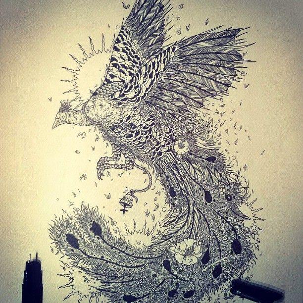 #peacock #drawing #shapefromhell #art #illustration #penandink #darkart #blackink #blackwork #tattoo #dotwork #nature #bird #blackandwhite #design #occultart #ink