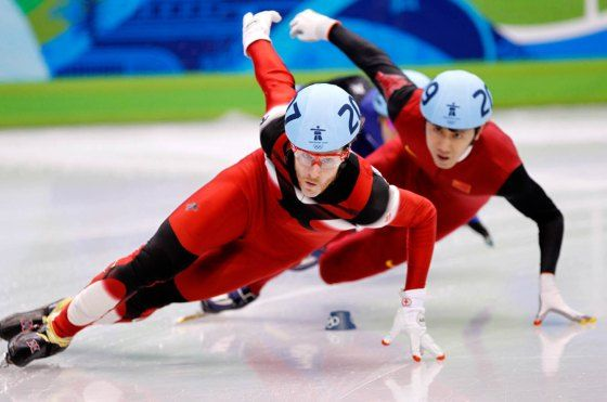 Canada's Sochi Speed Skating Team. Led by three-time Olympic speed skate champion Charles Hamelin