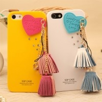 New Heart and Tassel Hand Made Case for iPhone 5