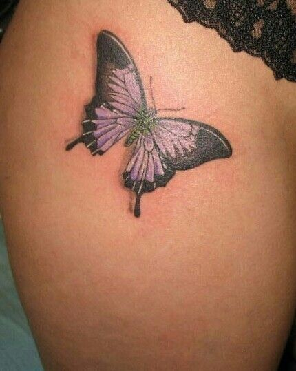 Butterfly thigh tattoo | Tattoos & Piercings I love... | Pinterest