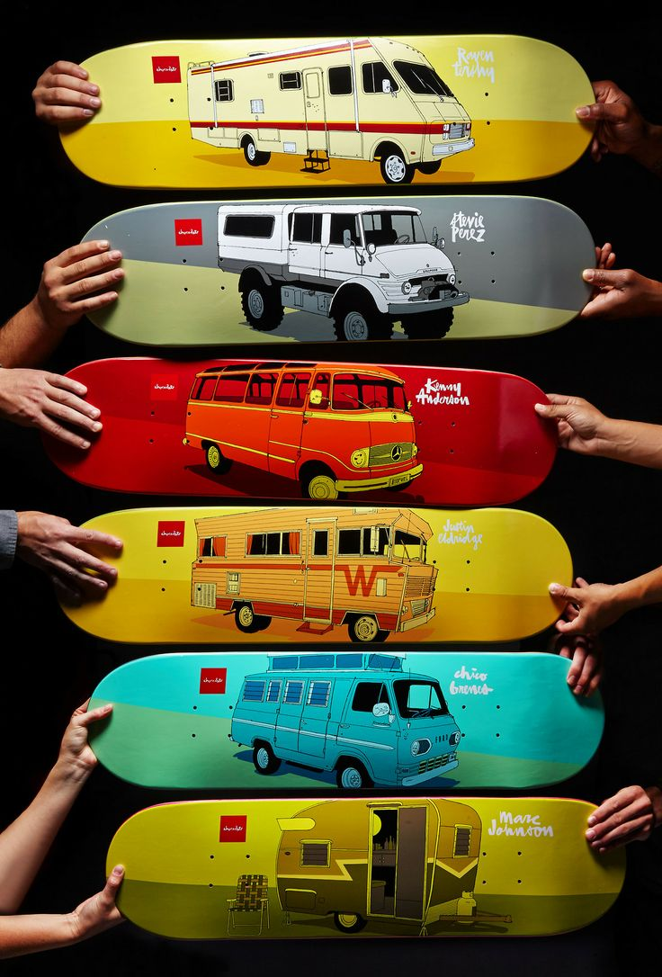 The Chocolate Vagabond Series by Evan Hecox. #Skateboards.