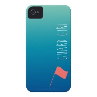 """Guard Girl"" with Flag Colorguard iPhone 4 Cover"