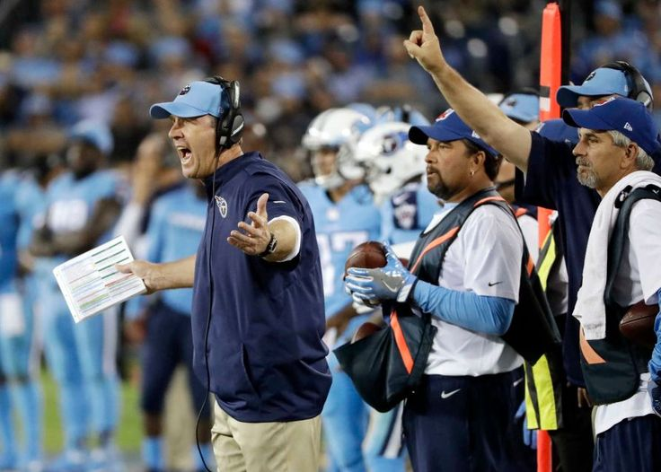 Thursday Night Football: Jaguars vs. Titans:    October 27, 2016  -  36-22, Titans   -     Tennessee Titans head coach Mike Mularkey, left, yells from the sideline in the second half of an NFL football game against the Jacksonville Jaguars Thursday, Oct. 27, 2016, in Nashville, Tenn.