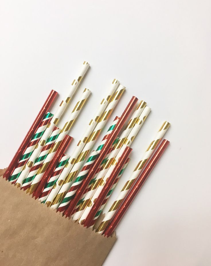 A personal favorite from my Etsy shop https://www.etsy.com/listing/492955389/golden-holiday-straw-mixpaper-straw