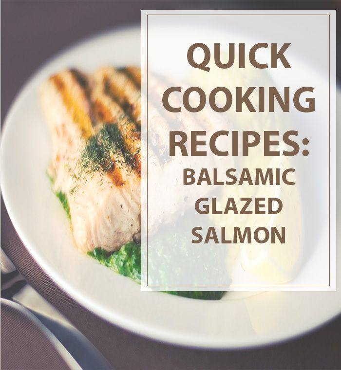Quick Recipe Balsamic Salmon  When you make it ,  grate and add a little fresh ginger (1/4 to 1/2 tsp.) and a pinch of red pepper flakes to the sauce. Then marinate the fish in some of the sauce for 30 minutes. #cooking #recipe #quick #salmon | www.housewiveshobbies.com |