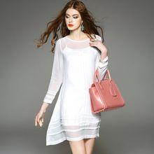 Vestido vestido de verano blanco vestido elbise mujeres de talla grande ropa seda 2 unidades set mujer elbise roupas feminina robe…