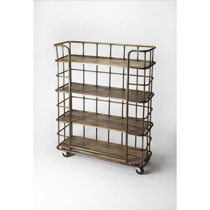Butler Industrial Chic Antioch Etagere Bookcase - Bronze - 6091330