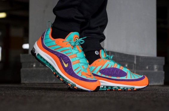finest selection ef0e0 3c49b Nike Air Max 98 Cone Hyper Grape Now Available Overseas