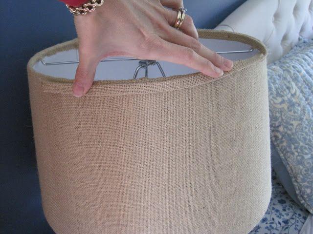 All Things Beautiful : DIY Burlap Covered Lamp Shades