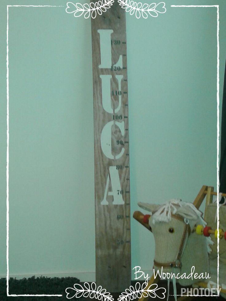 Maatbord. Leuk als kraamcadeau. Kleur en lettertype naar keus. #Wooncadeau, alles handgemaakt!!!