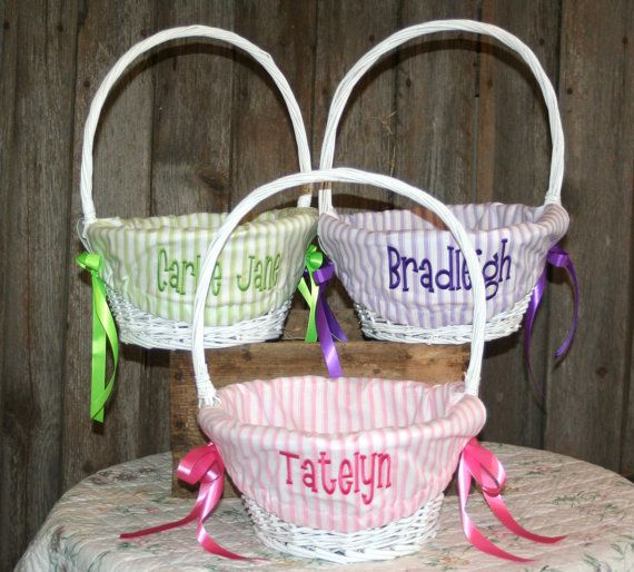 13 best easter baskets images on pinterest easter baskets dots white easter basket easter basket custom easter basket wicker easter basket lined negle Images