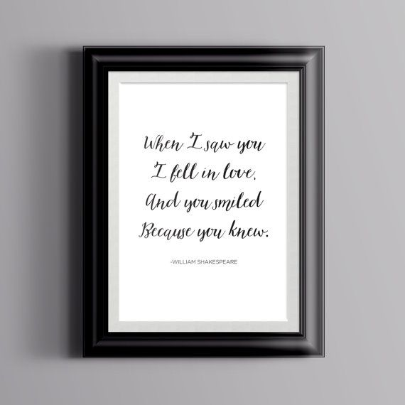 Shakespeare Love Quote Calligraphy Poster by ScribbledNapkin