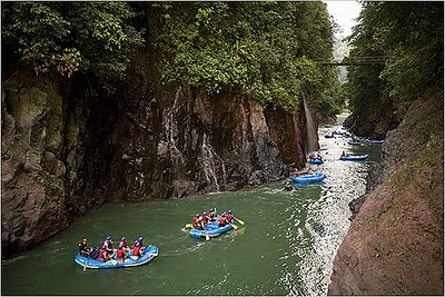 Costa Rica. Caribbean waters, exotic beaches, lush rainforest, active volcanoes, waterfalls, hot springs, and more.